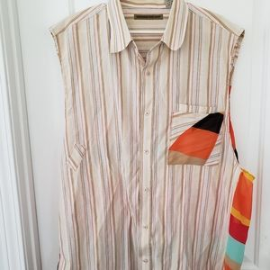 Beyond the Limit sz 3xl striped sleeveless blouse